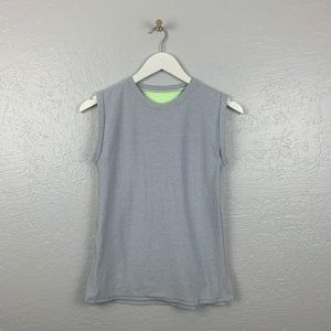 Ivivva Size 9 Gray Heather Roll Sleeve Muscle Tank